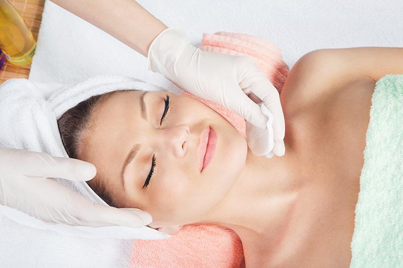 Woman after Salicylic Treatment